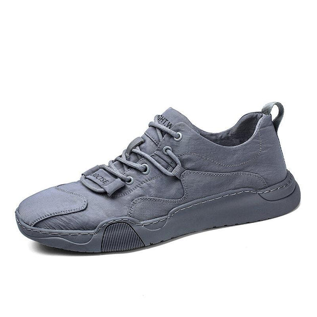 Men Ice Silk Cloth Non Slip Pure Color Soft Outdoor Casual Shoes