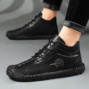 Men Casual Genuine Leather Handmade High Top Shoes