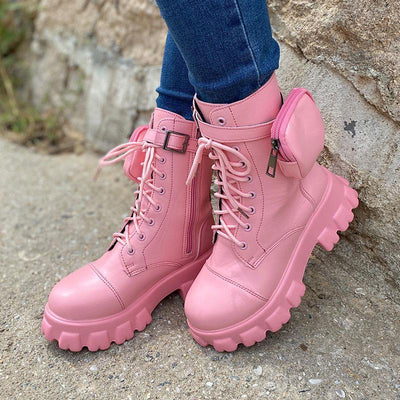 Women's Solid Color Platform Boots
