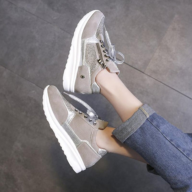 Lace up Low-Cut Upper Sneakers