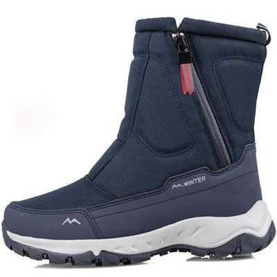 Men's Side Zipper Anti-Skiing Boots Short Sleeve Cotton Shoes