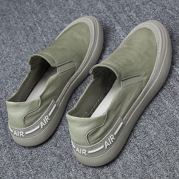 Men Ice Silk Cloth Breathable Slip On Casual Shoes