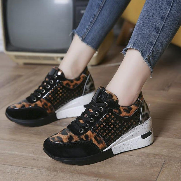 Women Lace-up Fashion Casual Sneakers Ladies Nursing Shoes
