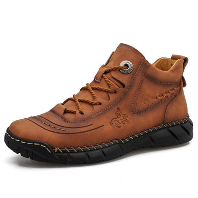 Mid-high Upper Solid Color Round Toe Casual Footwear