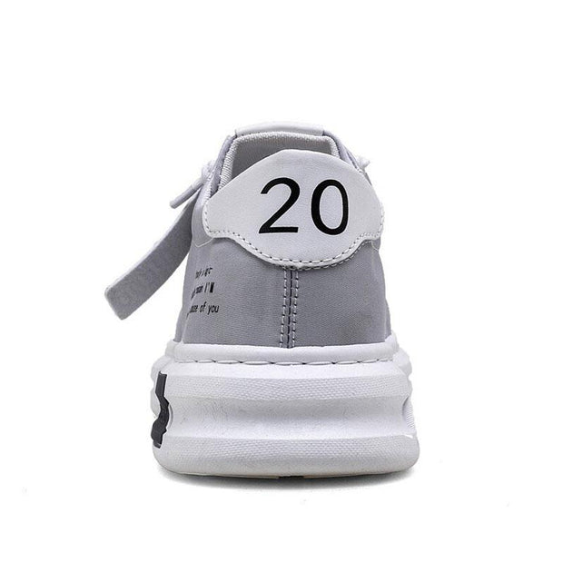 Men Ice Silk Cloth Breathable Casual Lace-up Shoes