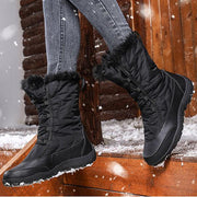 Women's Flat Heel Lace-up Snow Boots