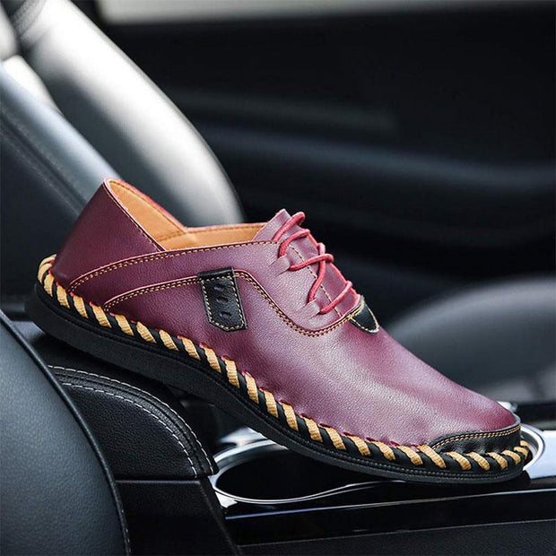 Men's Casual Large Size Handmade Breathable Leather Shoes