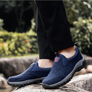 Men Casual Suede Non Slip Outdoor Soft Sole Hiking Sneakers
