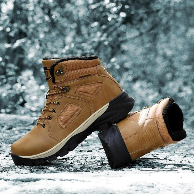 Men's Winter Thicken Outdoor Hiking Snow Boots