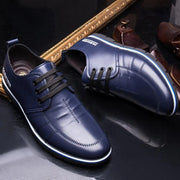 Men Non Slip Soft Sole Microfiber Leather Casual Driving Shoes
