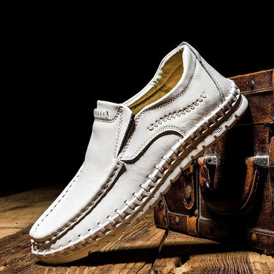 Men's Stylish Cowhide Driving Casual Shoes