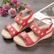 Comfort Stitching Double Hook Loop Lightweight Wedges Sandals