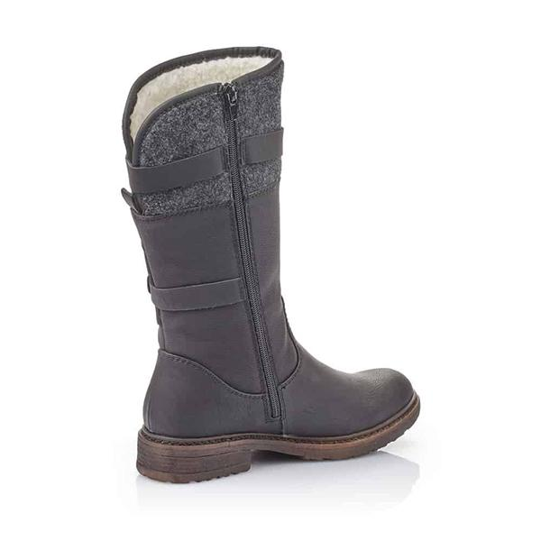 Women Buckle Warm Lining High Boots