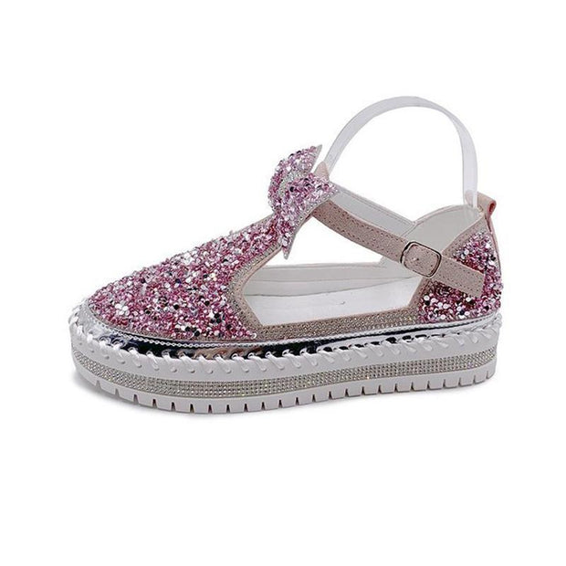 Women's Summer Bow Sandals With Rhinestones