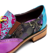 Women's Bohemian Painted Brogue Genuine Leather Shoes
