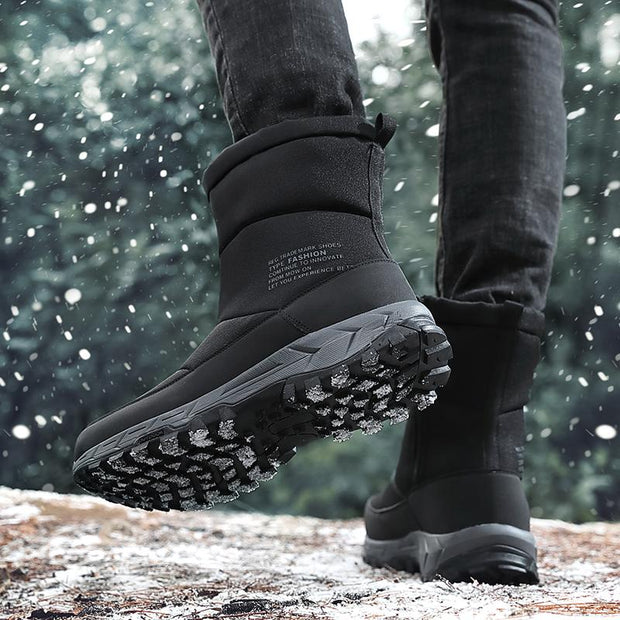 Men's Thicken Zipper Outdoor Winter Snow Boots