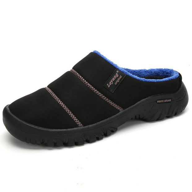 Mens Shoes Warm Non-slip Cotton Slippers