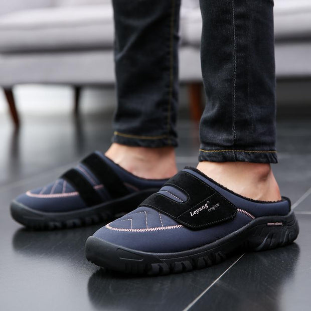 Mens Warm Cotton Slippers
