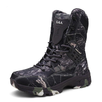 Men's Outdoor High-top Desert Combat Training Field Camouflage Boots