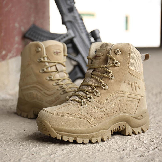 Men Military Special Forces Boots Tactical Outdoor Combat Waterproof Shoes