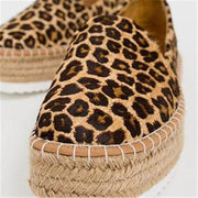 Women Suede Hemp Rope Platform Casual Shoes Loafers