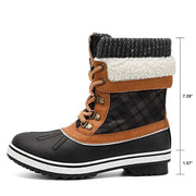 Women's Mid Calf Winter Snow Boots