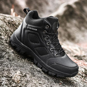 Men Mountaineering Hiking Shoes Casual English Style Ankle Boots