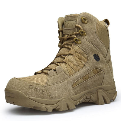 Army Boots Men Outdoor Waterproof High-Top Desert Anti-Collision Toe Boots