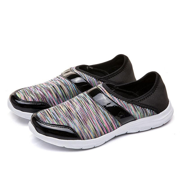 Women Lightweight Fly Woven Loafers Slip-on