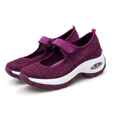 Women Casual Sports Mesh Hook Loop Platform Sneakers