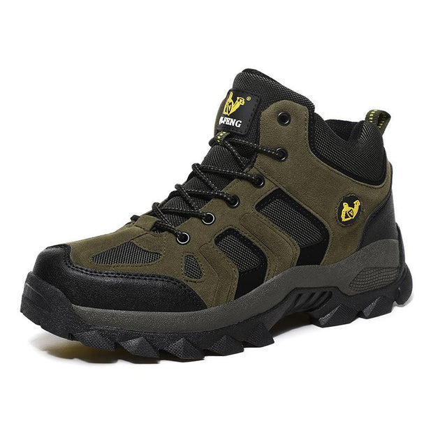 Men Warm Outdoor Non-slip Hiking Walking Shoes