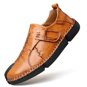 Men Fashion Genuine Leather Round Toe Casual Shoes
