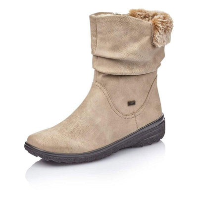 Women Winter Comfortable Side Zipper Leather Boots