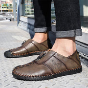 Men Hand Stitching Leather Anti-collision Non-slip Casual Shoes