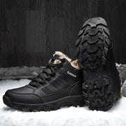 Men Outdoor Non Slip Waterproof Warm Anti-collision Toe Hiking Boots