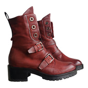 Women's Casual Vintage Buckle Boots