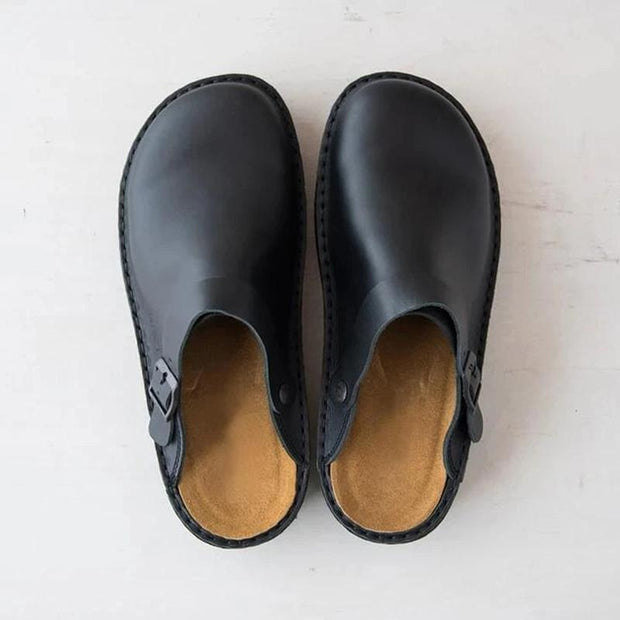 Men's Soft Leather Vintage Slippers