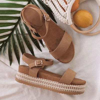 Women's Casual Fish Mouth Wedge Heel Sandals