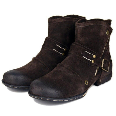 Fashion Genuine Leather Men Casual Ankle Boots