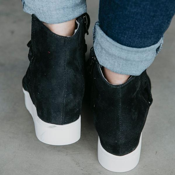 Women High-top Flat Ankle Boots