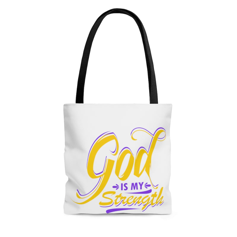 God Is My Strength Tote Bag