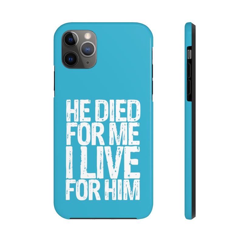 I Live For Him iPhone Case