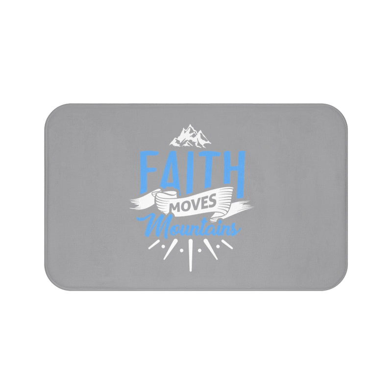 Faith Moves Mountains Bath Mat