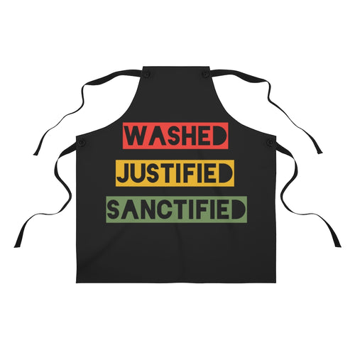 Washed Justified Sanctified Boxed Apron