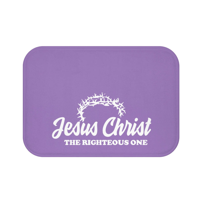 Jesus Christ The Righteous One Crown Bath Mat