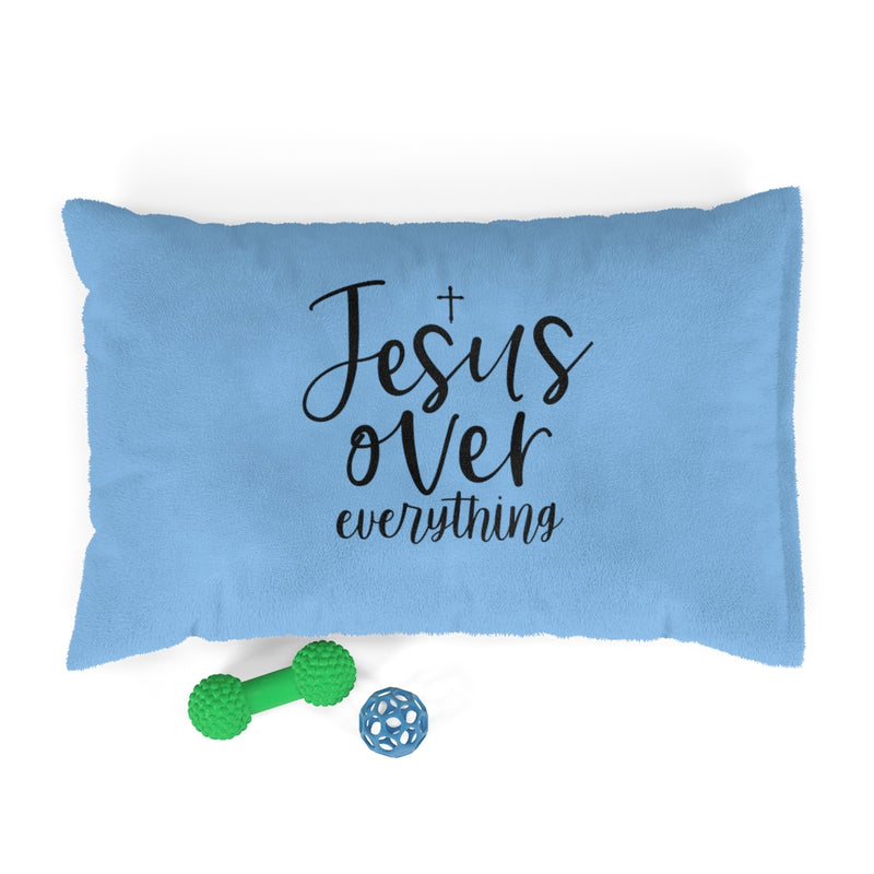 Jesus Over Everything Pet Bed