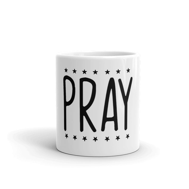 Pray White-Gloss Mug