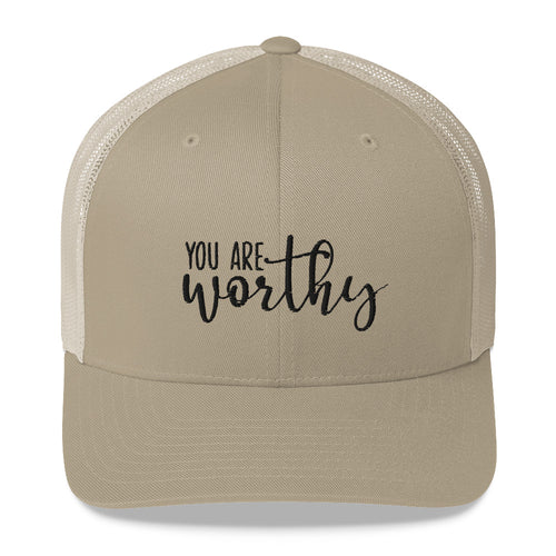 You Are Worthy Retro Trucker Hat
