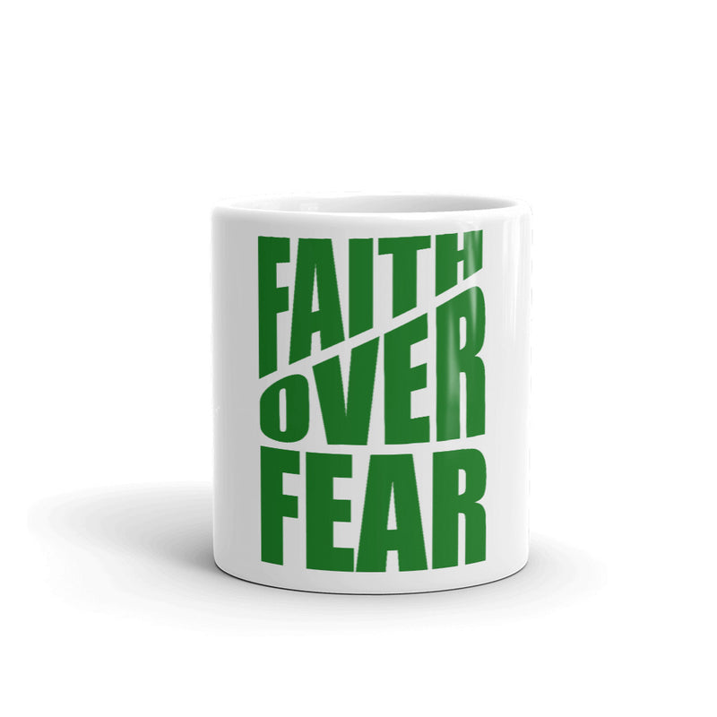 Faith Over Fear White-Gloss Mug