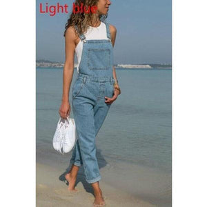 Vintage Solid Color Vacation Jumpsuits